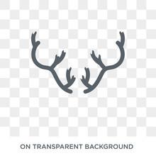 Deer Horns Icon. Deer Horns Design Concept From Christmas Collection. Simple Element Vector Illustration On Transparent Background.