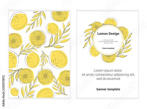 set of banners with orange, lemon. eps10. - 245570872