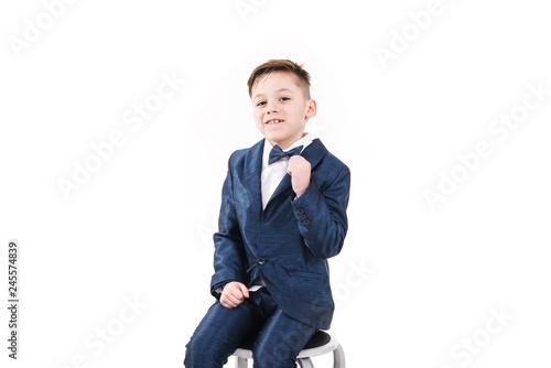 Charming boy in suit Wallpaper Mural