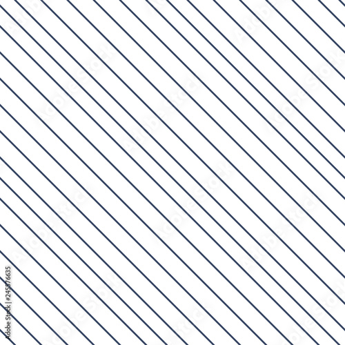 Valokuvatapetti Linear abstract, diagonal lines, seamless pattern isolated on white background