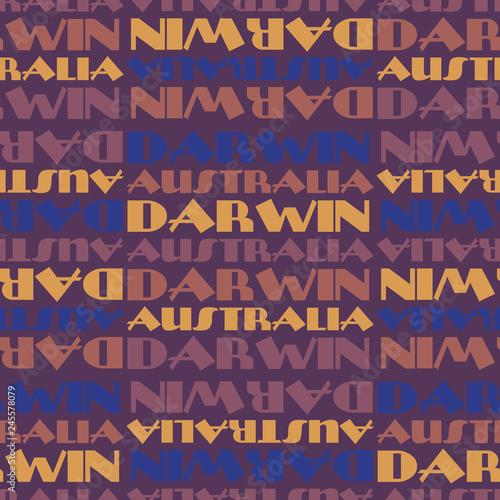 Slika na platnu Darwin, Australia seamless pattern