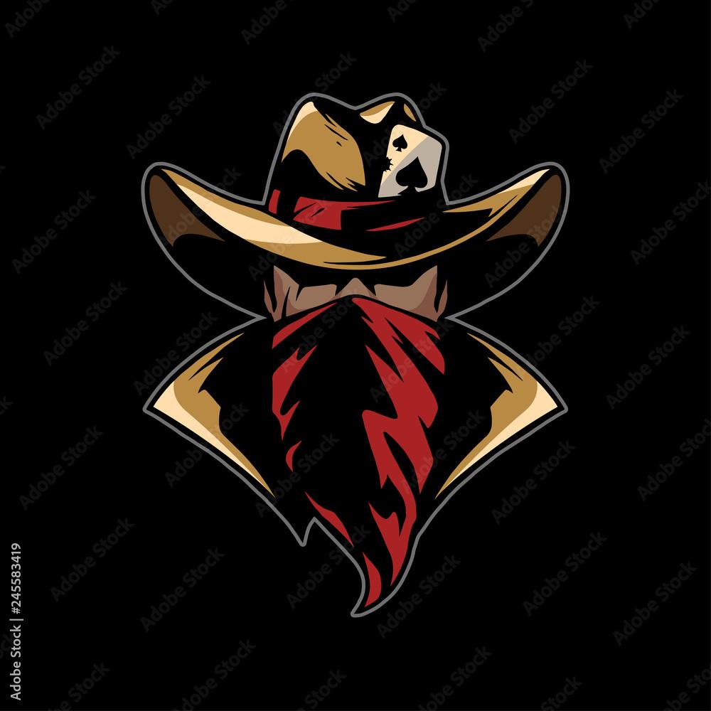 Fototapeta cowboy with red bandana