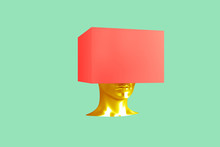 Conceptual Representation Of A Female Head With Crushed Problems 3d Illustration