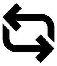 Repeat Sync Loop Vector Icon.eps