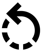 Rotate Left Dashed Arrow Vector Icon.eps