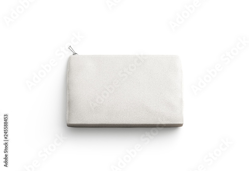 Fotomural Blank canvas clutch for cosmetic mock up, isolated