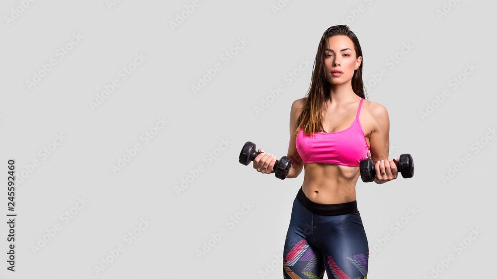 Fototapety, obrazy: Beautiful fitness girl posing