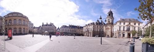 panoramique de la place de la mairie Canvas Print