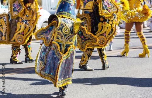 In de dag Zuid-Amerika land Carnival in Peru