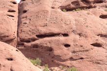 Close Up Of Massive Boulder At Papago Park In Phoenix Arizona