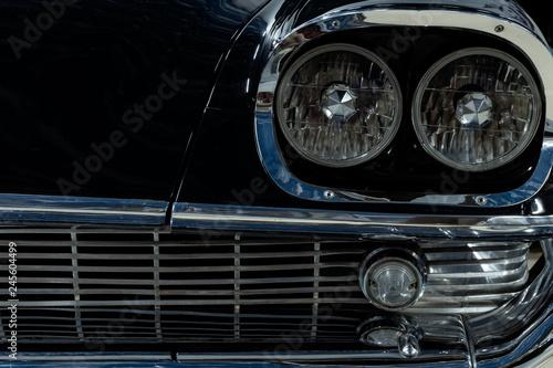 Fotografiet  detail of a vintage luxury car