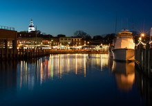 Downtown Annapolis Night Skyline