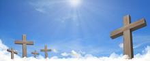 Heavenly Cemetery Crosses In T...