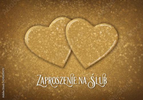 Fototapeta Zaproszenie na ślub obraz