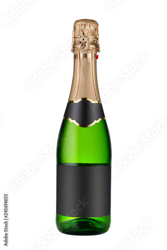 Fotografie, Obraz Closed bottle of champagne wine isolated