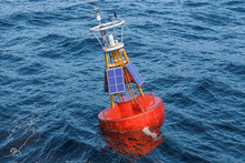 Marine Buoy With Solar Panels ...