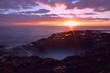 canvas print picture - Sunrise on coastline at El Bufadero