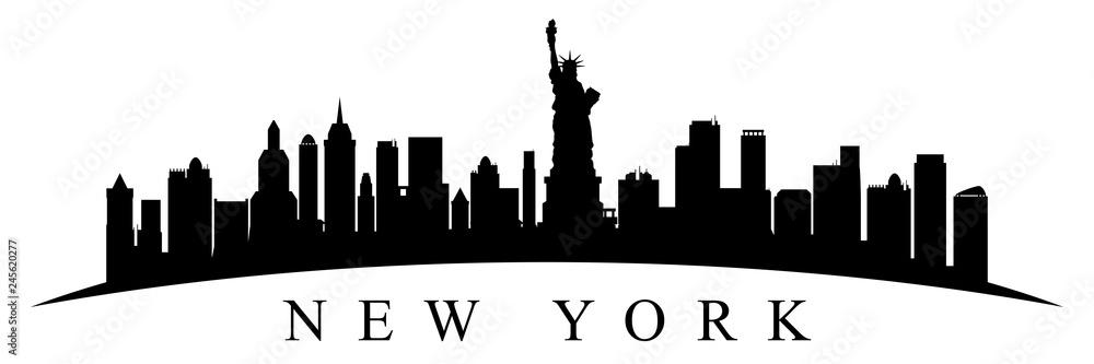 Fototapety, obrazy: New York city silhouette - stock vector