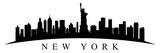 Fototapeta New York - New York city silhouette - stock vector