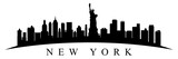 New York city silhouette - stock vector