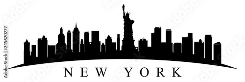 New York city silhouette - stock vector