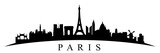 Fototapeta Fototapety Paryż - Paris silhouette - stock vector