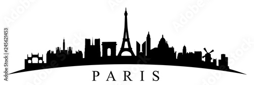 Paris silhouette - stock vector