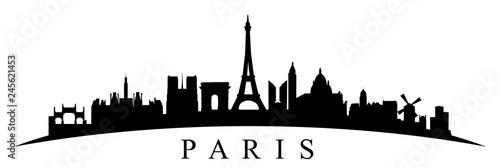 Sylwetka Paryża - wektor