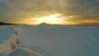 Time Lapse Video of the Winter Sunrise Snow Baltic Beach, Latvia, Saulkrasti. Frozen Sea With Ice Stacks
