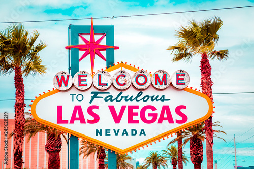 Welcome to Fabulous Las Vegas sign, Las Vegas Strip, Nevada, USA Canvas Print