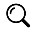Outline search vector icon