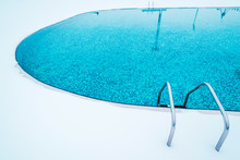 Swimming Pool With Snow During Winter