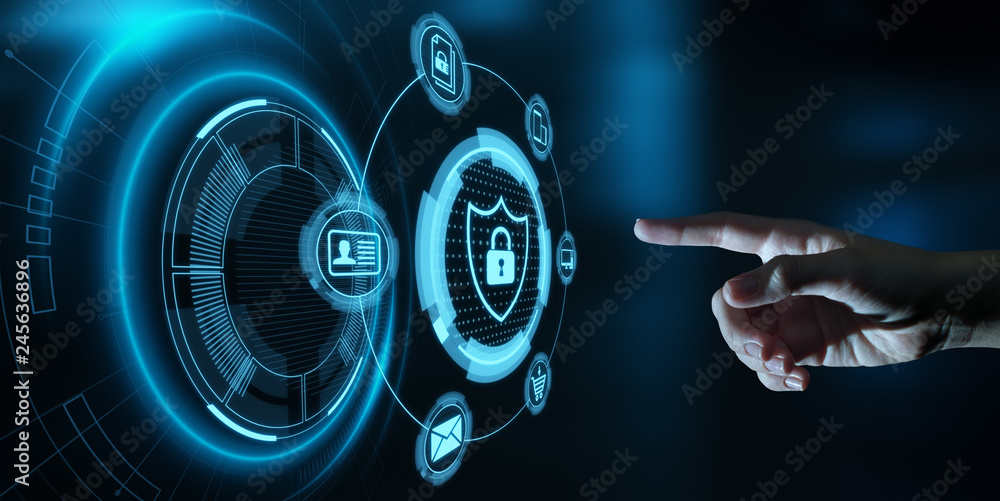 Fototapeta Data protection Cyber Security Privacy Business Internet Technology Concept