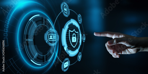 Fotografia  Data protection Cyber Security Privacy Business Internet Technology Concept