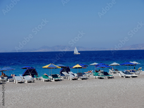 Photo  Ellie Beach is the nearest beach to Rhodes Town and is popular with locals and tourists alike