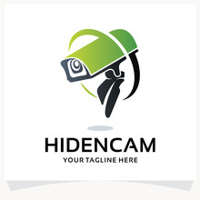 Hidden Camera Logo. CCTV Logo Design Template Inspiration