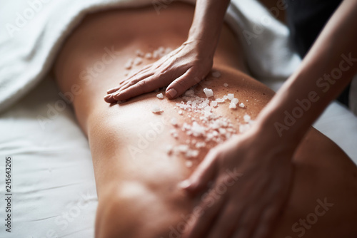 Close up of healthy massage...