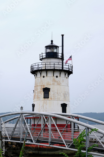 Fotografie, Tablou  Empty and abandoned Tarrytown lighthouse on the hudson river New York