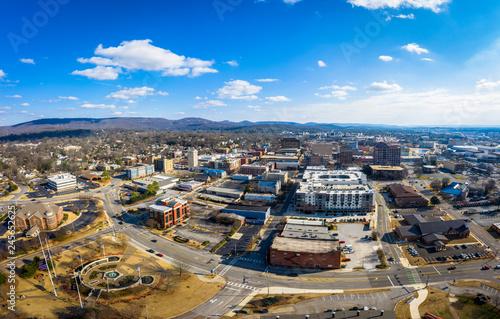 Downtown Huntsville Alabama, aerial view Wallpaper Mural