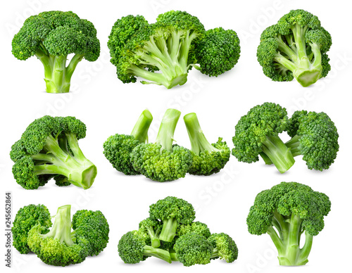 Fotografia  Broccoli isolated on white background