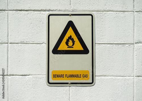 Fotografie, Obraz  Danger high voltage sign and background photo