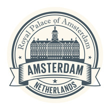 Royal Palace, Amsterdam, Netherlands Stamp