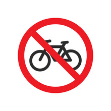No Bicycle Allowed Signs
