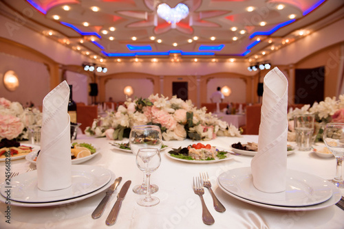 wedding banquet in a restaurant, party in a restaurant Canvas-taulu