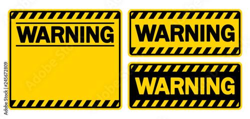 Canvas Print 警告サイン&フレーム(WARNING)