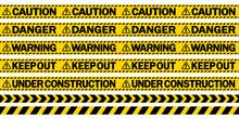 規制テープ「CAUTION」「DANGER」「WARNING」「KEEP OUT」