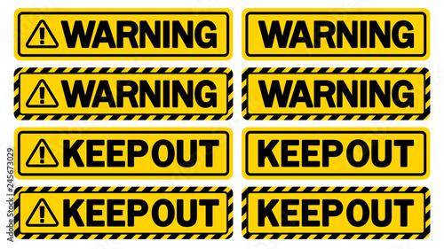 Photo  警告サイン(WARNING & KEEP OUT)
