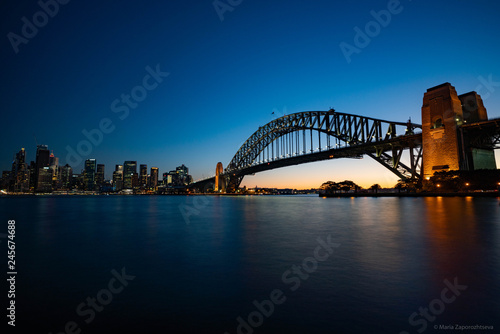 sydney harbour bridge at night © Mariia