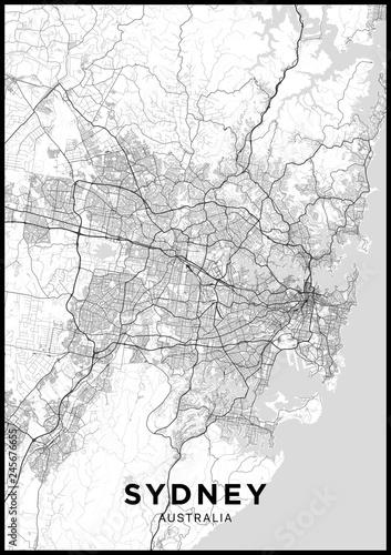 Photo Sydney (Australia) city map