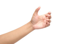 Hands Holding Something, Clipping Path.